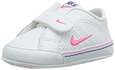 77cc340fbb Nike Baby Girls' First Court Tradition Lea CBV Walking Baby Shoes White  Size: 0