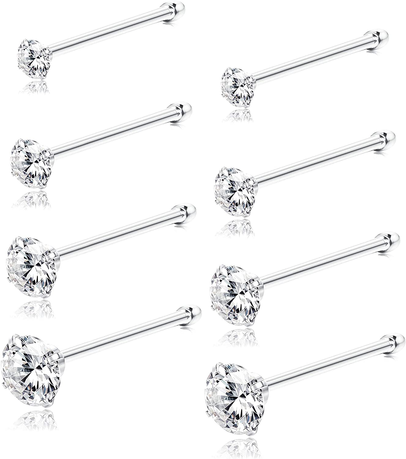 Nose stud,Piercing nose,Nostril earrings,Nostril jewelry,Nose ring,Opal 2 mm,Sterling silver,Gold Filled,Gold,22g,20g,18g,