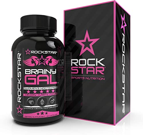 Rockstar Brainy Gal with Ginkgo – Sooth, Relax, Calm – 60 Caps