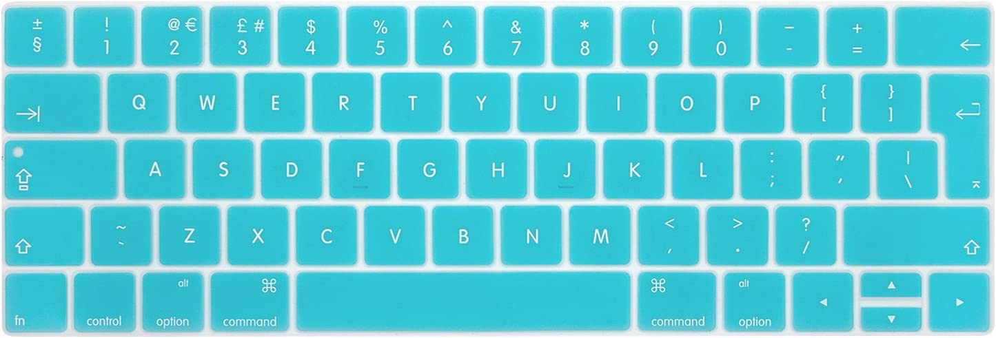 i-Buy Silicone Keyboard Cover Film for Macbook Air 13 Pro 13 Pro 15 Touchpad Protector Black EU Layout