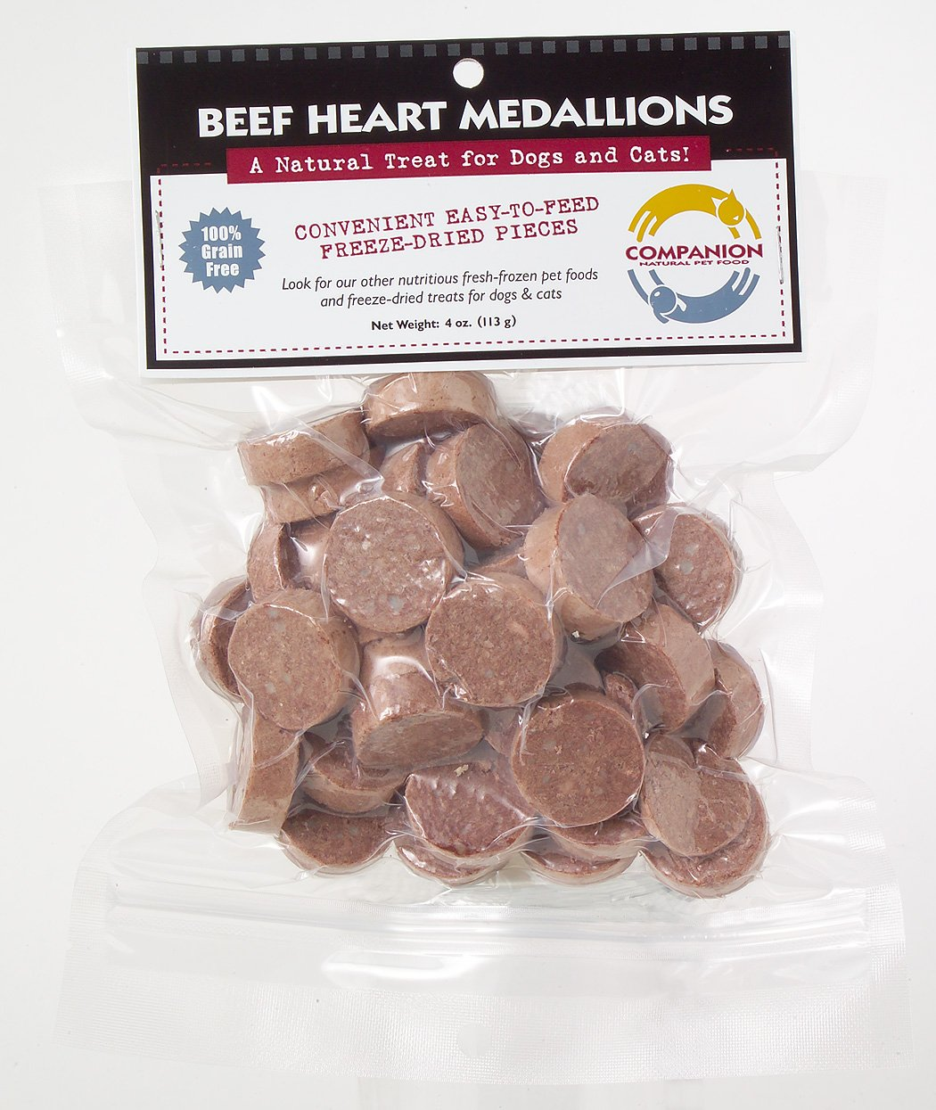 Fresh is Best Freeze-Dried Beef Heart Medallions