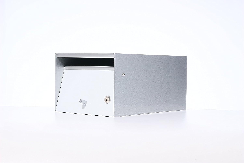 Box Design 郵便受け ポスト Urban(アーバン) [玄関先/2way 埋め込み式スタンド式/鍵付/A4厚手サイズ対応/ホワイト] B07D27MV5J 28620 ホワイト ホワイト