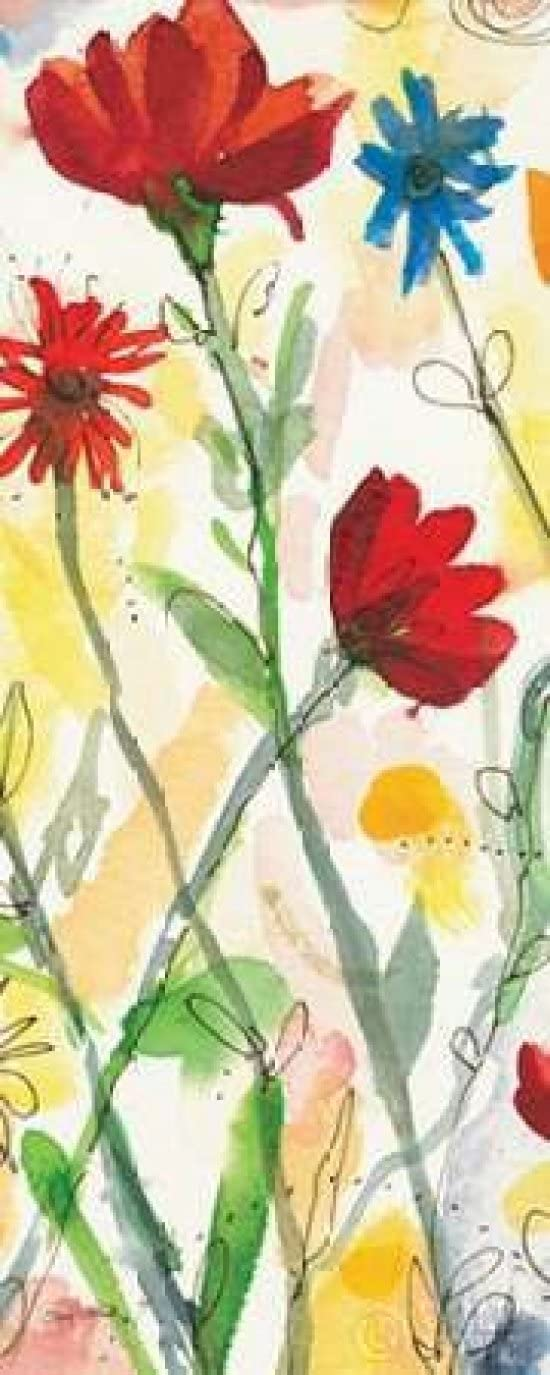 Posterazzi Sarahs Garden Panel II Poster Print by Cheryl Warrick, (24 x 48)