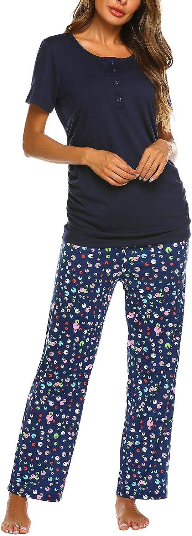 UNibelle Ropa Premam/á Lactancia Pijama Conjunto Maternidad Verano Pijama Premam/á Embarazo El Pantalones Cortos S-XXL