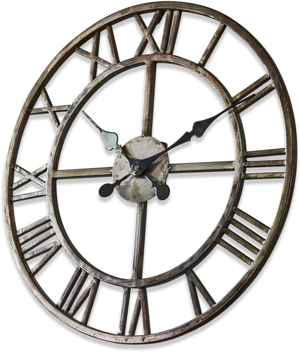 Kunststoff Loberon Uhr Vigo 50 cm /Ø ca Eisen antikschwarz