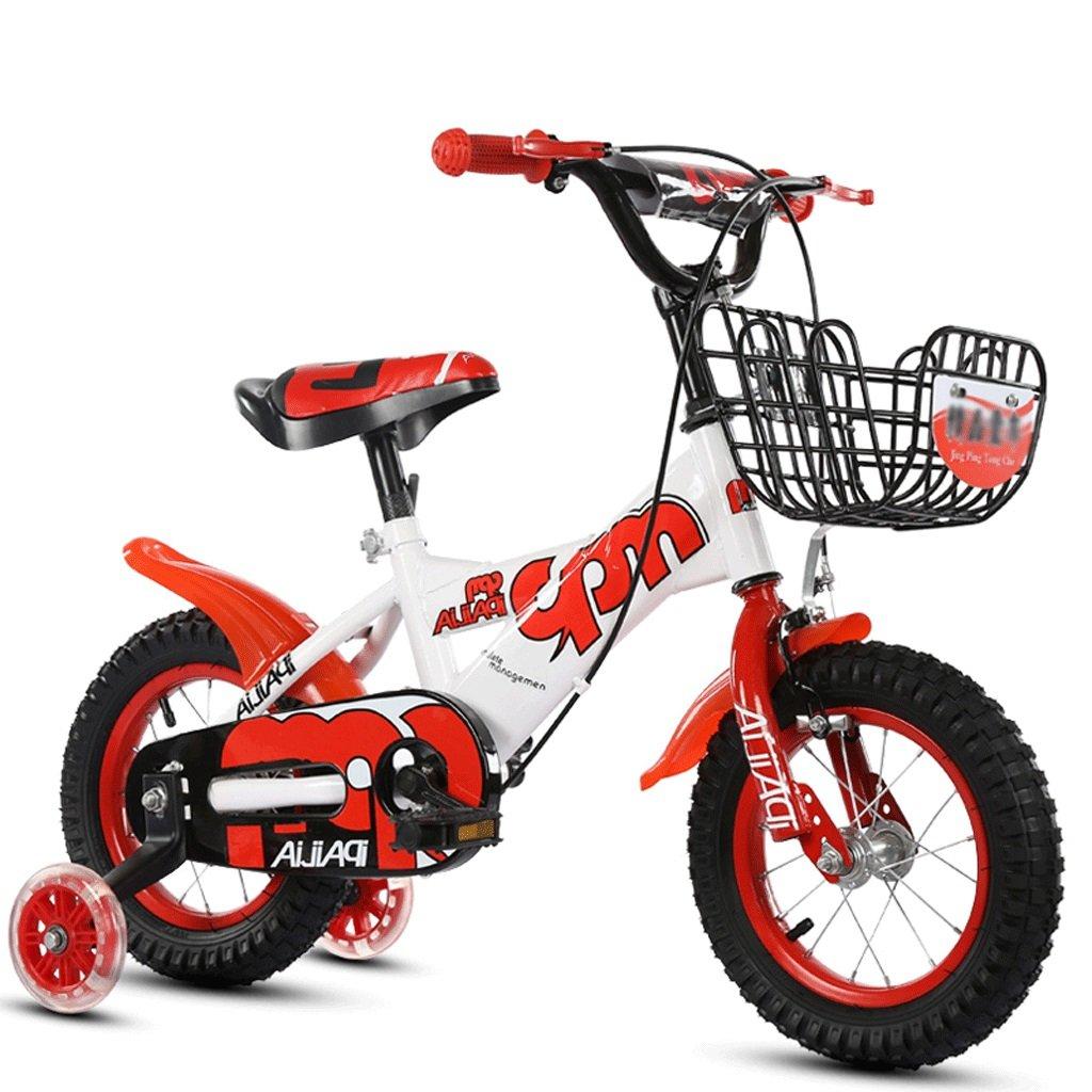 más vendido rojo LSJ SHOP Bicicleta para niños, niños, niños, Cochecito de bebé, Bicicleta de montaña para niños (versión con Rueda de Flash) (Color   púrpura, Talla   16 in) 12 in  compra limitada