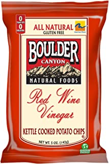 product image for Boulder Canyon Red Wine Vinegar Kettle Chips, 5-Ounce Bags (Pack of 12)