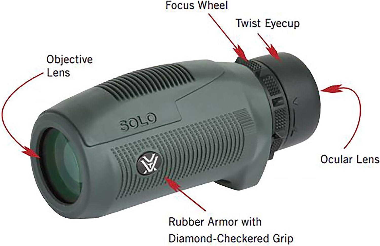 Vortex Optics Solo Monocular 8x25 : Vortex Solo Moncular : Camera & Photo