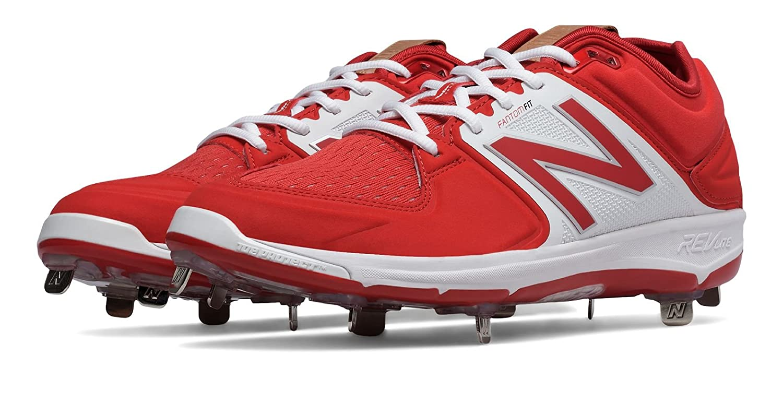 (ニューバランス) New Balance 靴シューズ メンズ野球 Low-Cut 3000v3 Metal Cleat Red with White レッド ホワイト US 9.5 (27.5cm) B01J5BQEWW