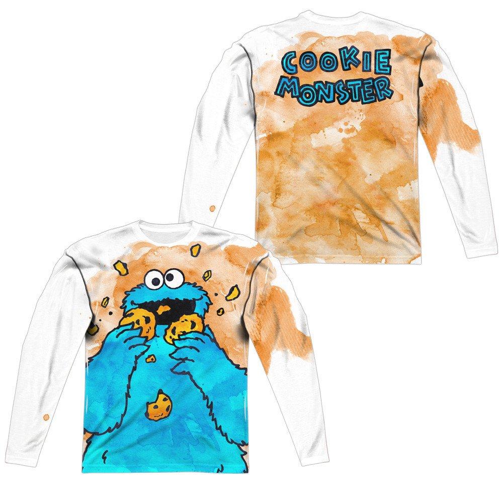 Cookie Crumbs Adult Long Sleeve T-Shirt Sesame Street