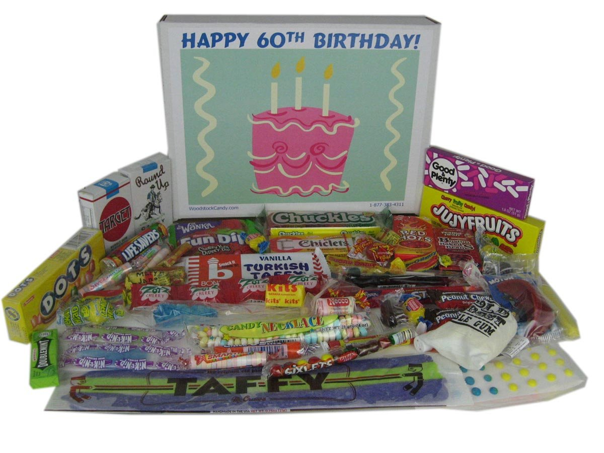 Amazon Happy 60th Birthday Party Celebration Ideas Gift Basket Box Of Retro Candy Gourmet Gifts Grocery Food