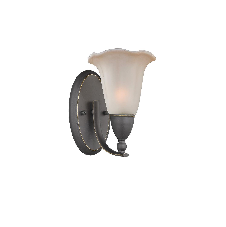 Woodbridge Lighting 12951MEB-C20702 Kingston 1-Light Wall Sconce Metallic Bronze 7-1//2-Inch by 9-3//4-Inch by 10-Inch