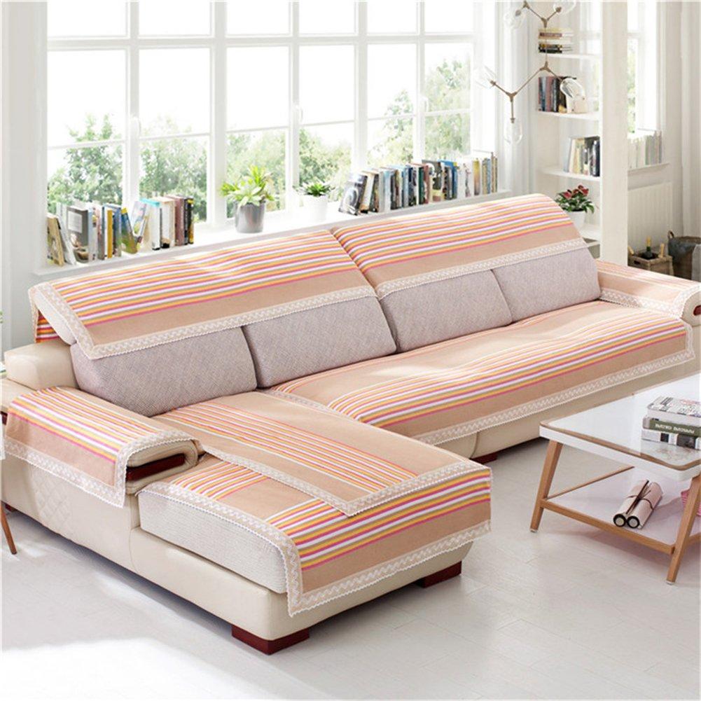 Amazon.com: Z&HX Sofa Set Corner Sofa Set 3+2 Seater Hemp ...