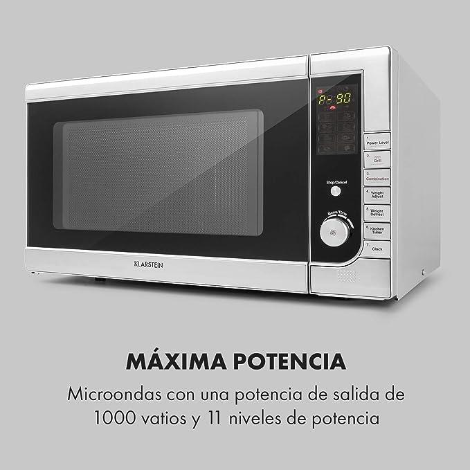 Klarstein CombiWave microondas - 1000 W, 43 l de capacidad ...