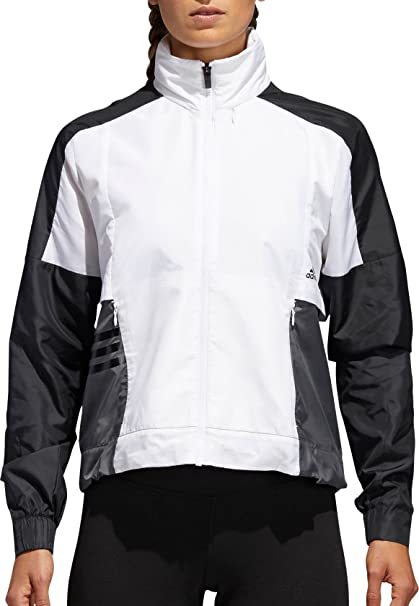 4411d194b356 Image Unavailable. Image not available for. Color  adidas Women s ID  Windbreaker Jacket (White Black ...