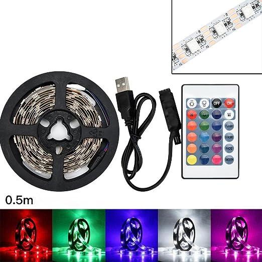 100cm Rameng Ruban Led 50-200CM 5050 SMD RGB Ruban /à LED Bande Lumineuse D/écoration pour la Maison