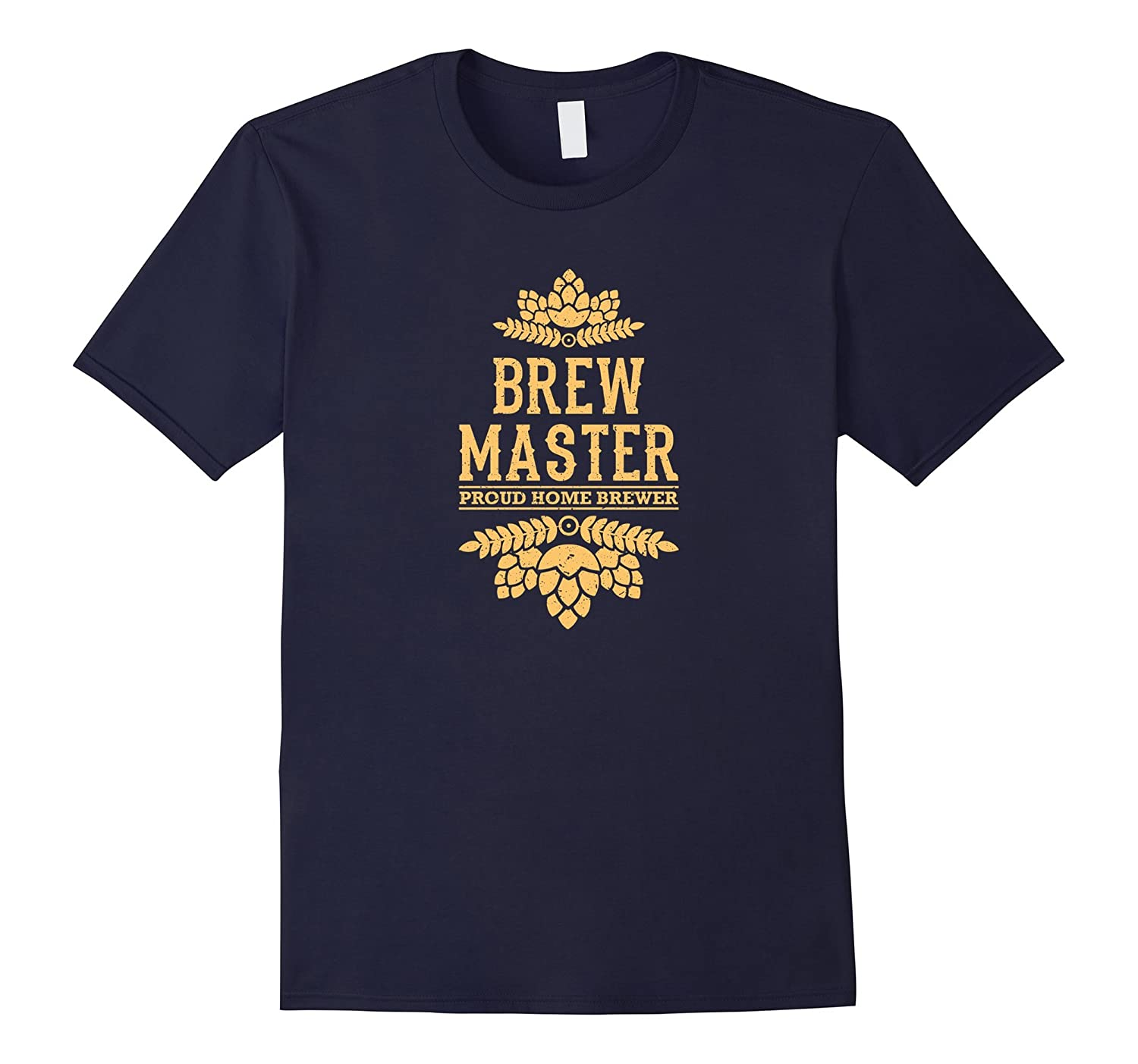 proud home brewer brewmaster t-shirt-TH