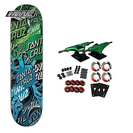 Amazon.com: Santa Cruz Skateboard Collage Everslick - Tabla ...