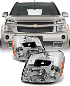 For Chevy Equinox SUV Clear Headlights Headlamps Front Lamps Replacement Left + Right Pair set
