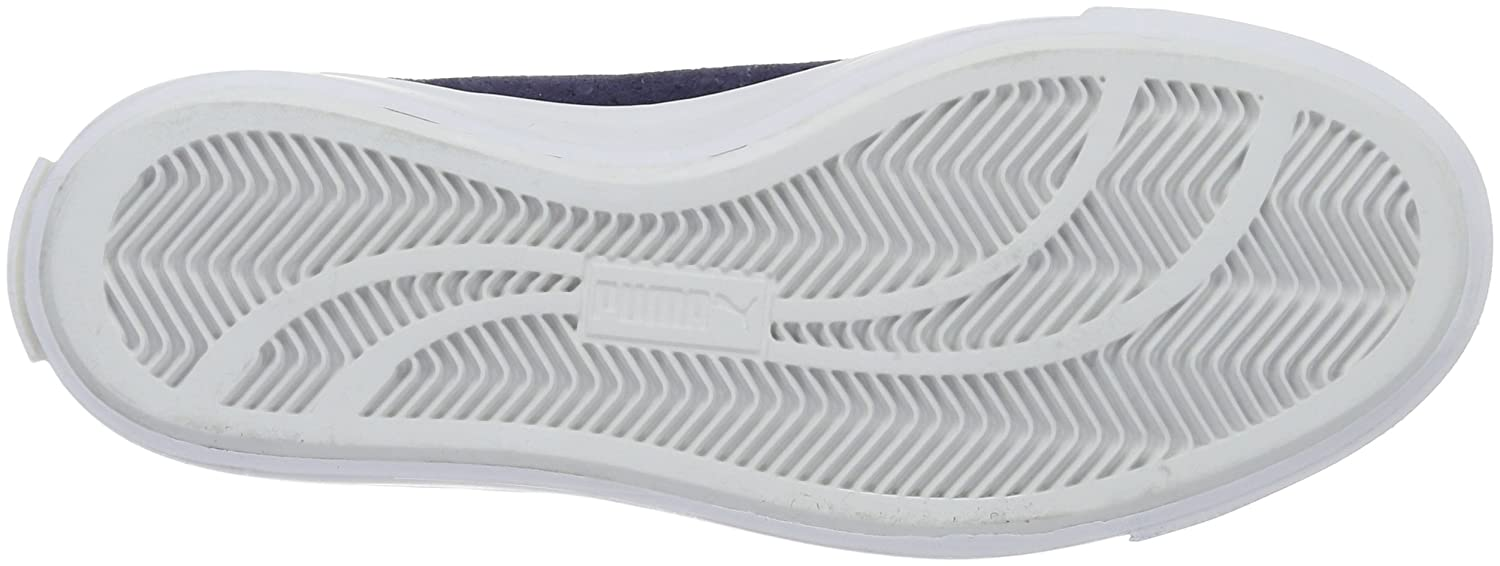Puma Unisex-Erwachsene Court Star VULC Suede Low-Top, Blau (Peacoat White 03), 45 EU