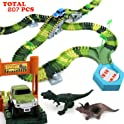 192 Piece Klobroz Dinosaur Track Race Car Toys Playset