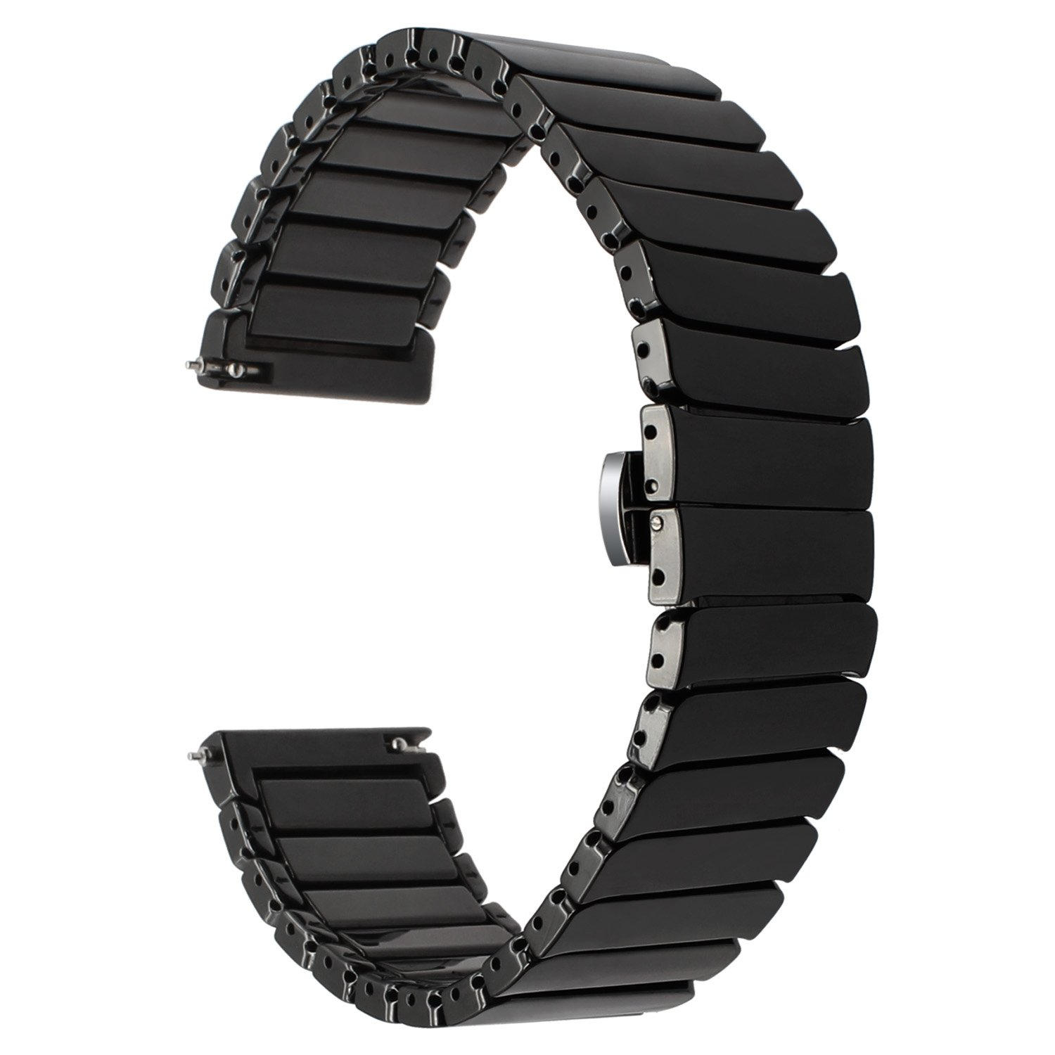 for Samsung Gear S3 Frontier Classic/Galaxy Watch 46mm Watch Band, TRUMiRR 22mm Ceramic Band Quick Release Strap Replacement for Samsung Gear 2 Neo ...