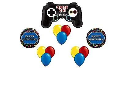 Feliz Cumpleanos Gamer Globo Ramo 12 Piezas Amazon Com Mx Juegos Y