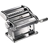 Marcato Atlas Pasta Machine, Silver, Includes Pasta Cutter, Hand Crank, and Instructions