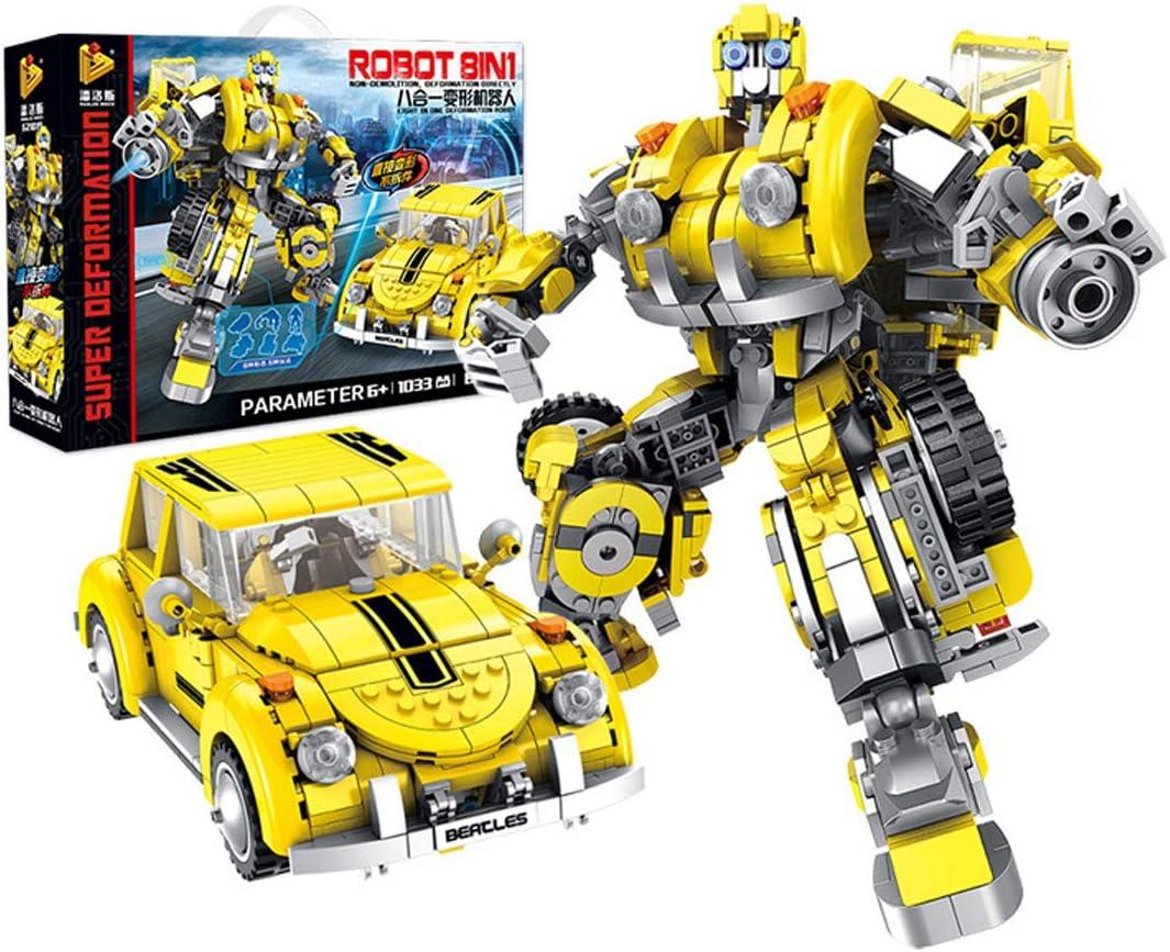 GYFY Robot de deformación 8-en-1 automóvil Juegos para niños deletreo y Montaje de Bloques de construcción Juguetes: Amazon.es: Hogar