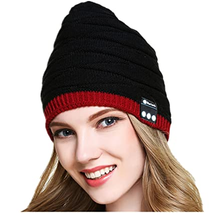 4db1406692a HMILYDYK Bluetooth Beanie Washable Hat Winter Warm Knit Music Cap with  Speakers   Mic Hands Free