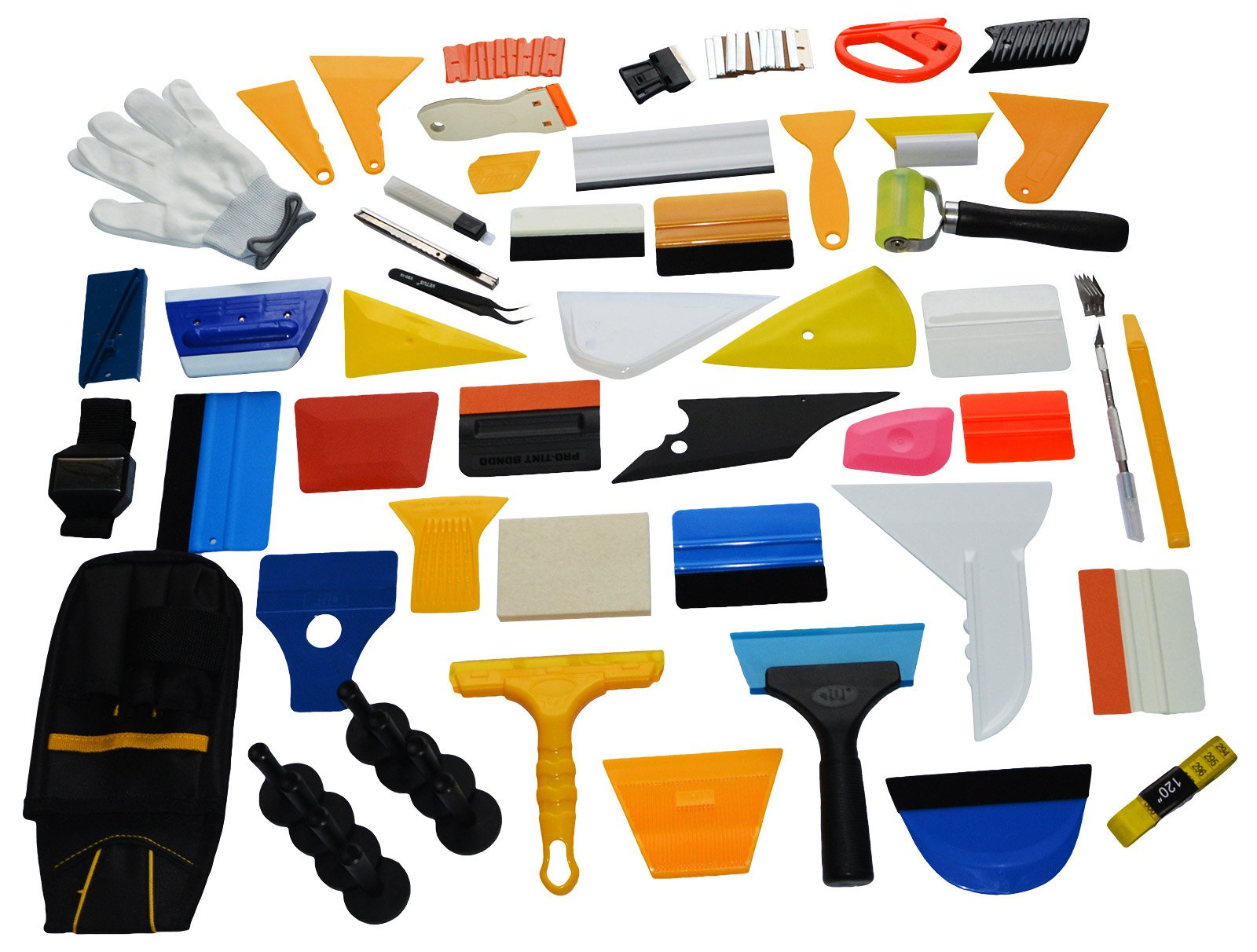 Ehids Professional Window Film Vinyl Wrap Kit Including All Tools Full Complete Squeegees, Scrapers, Cutters, Holders, Tool Pouch by Ehdis (Image #3)