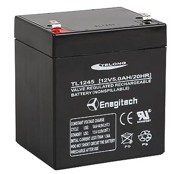 Powermall 12 V 5 Ah batería de Plomo ácido sellada Batería ...