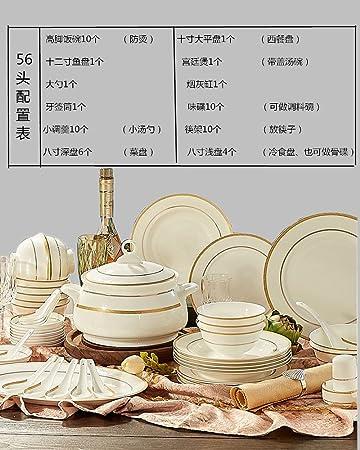 YUWANW Geschirr Geschenk-Sets Besteck 56 Jingdezhen Keramik ...
