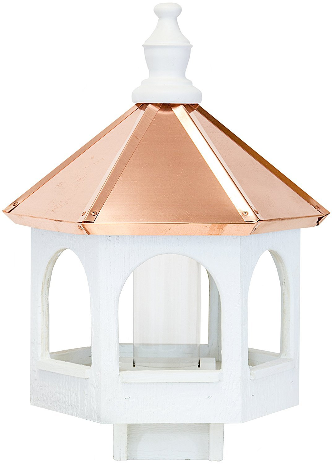 Dress the Yard Amish 21'' Bird Feeder with Copper Roof, Handcrafted in the USA (Standard)