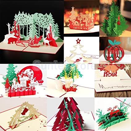 sellify 6 3d pop up handmade christmas happy new year birthday greeting cards 11 types