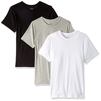 cb98ef478 Calvin Klein Men`s Cotton Crew Neck Classic Fit T-Shirts 3 Pack at Amazon  Men's Clothing store: