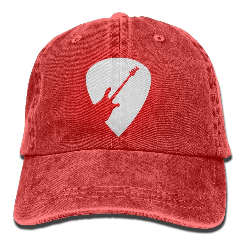 Guitar Lover Gifts Men Women Adjustable Washed Twill Low Profile Baseball Cap Hat Olsod