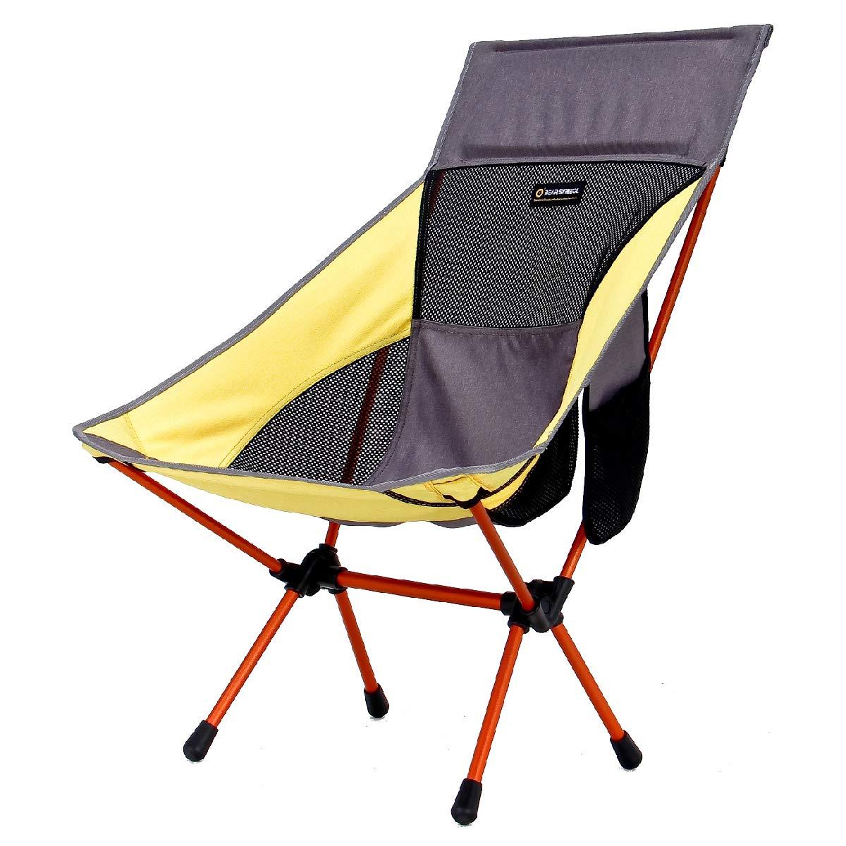 TRIWONDER Silla de Camping Plegable Ligera Port/átil Taburete Acampada para Playa Pesca al Aire Libre