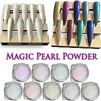 Polvo de uñas Holográfico cromado – iMethod Premium Grado de salón arcoíris unicornio efecto espejo Multi