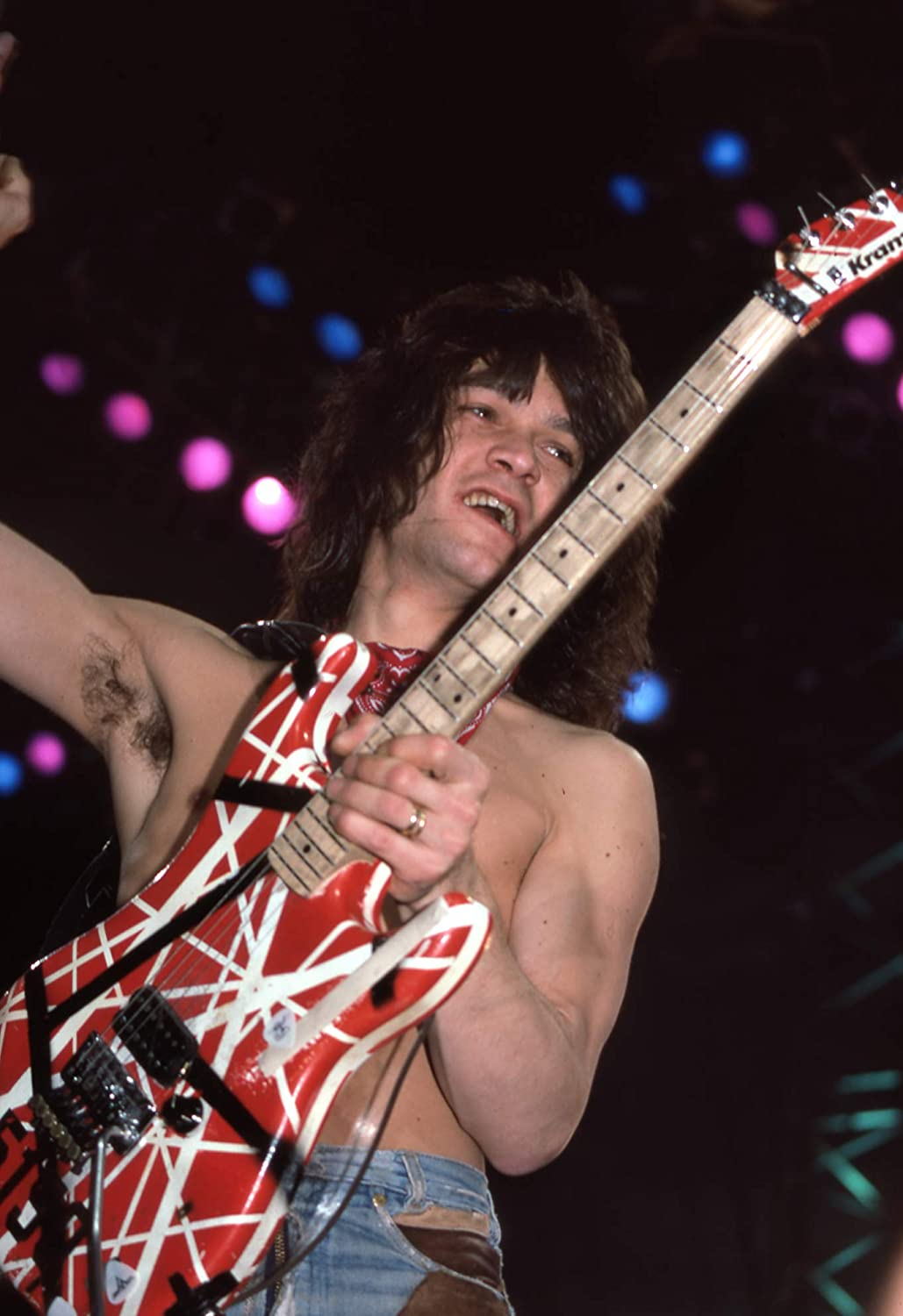 Art Print Poster Canvas Eddie Van Halen Plays Guitar In Concert