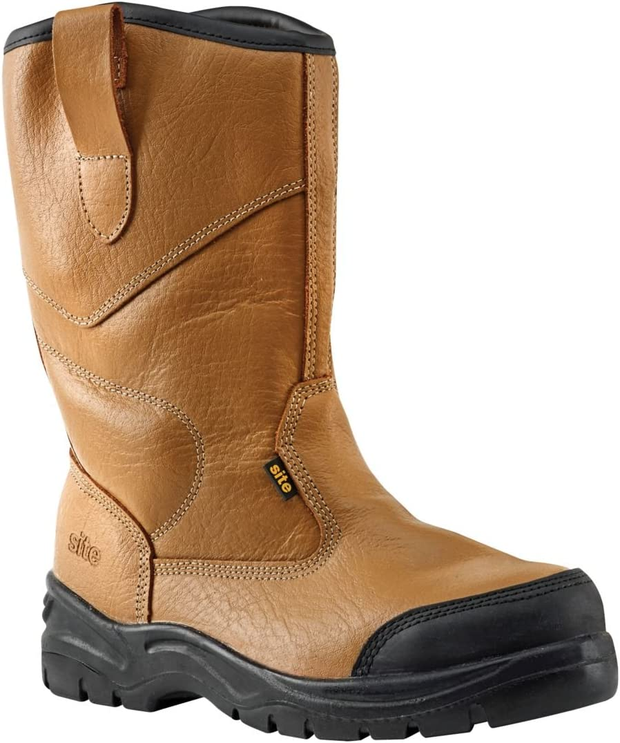 Site Gravel Rigger Safety Boots Tan