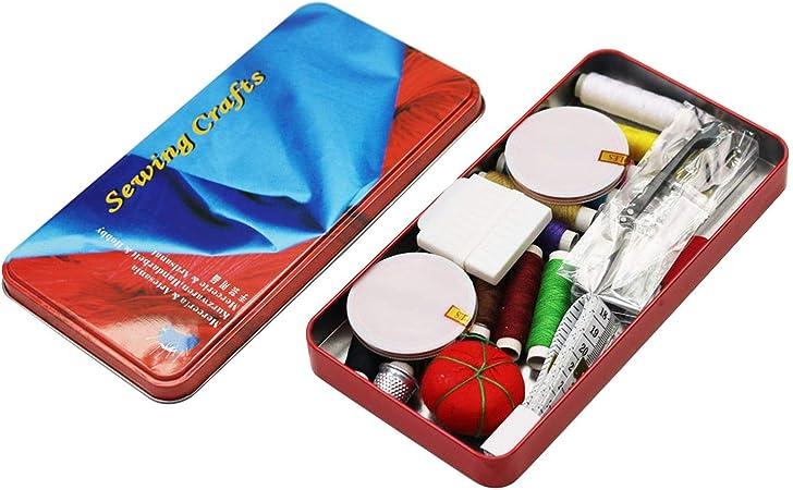 Kit de costura portátil para el hogar, para costura, bordado, costura, costura, manualidades, costura, con estuche de regalo para mamá: Amazon.es: Hogar