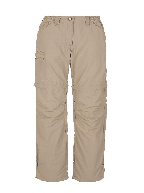 Vaude Farley ZO - Pantalones de senderismo para mujer, color Verde (Verde (verde grisáceo)), talla 36/XS 3873