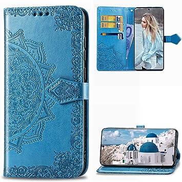 MUSESHOP para Samsung Galaxy A51 Funda Libro, Estuche de Cuero Estampado Mandala Libro de Cuero Flip Case, Carcasa PU Leather con TPU Silicona Case Interna Suave Cierre Magnético: Amazon.es: Electrónica