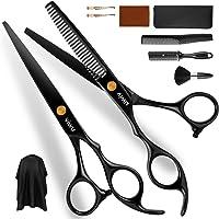 Viwu Barber Shears Home Hair Cutting Scissors Set, 10 Pcs Professional Haircut Scissors Kit with Thinning Shears 6CR…
