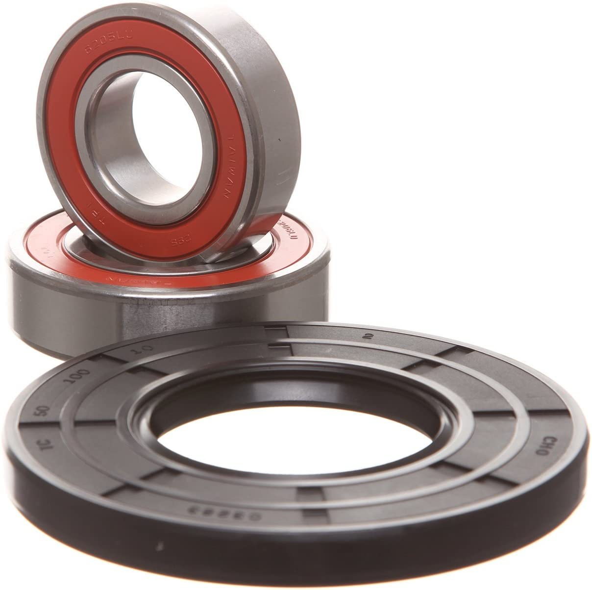 REPLACEMENTKITS.COM - Brand fits Whirlpool Duet & Maytag HE3 Bearing & Seal Kit - Black