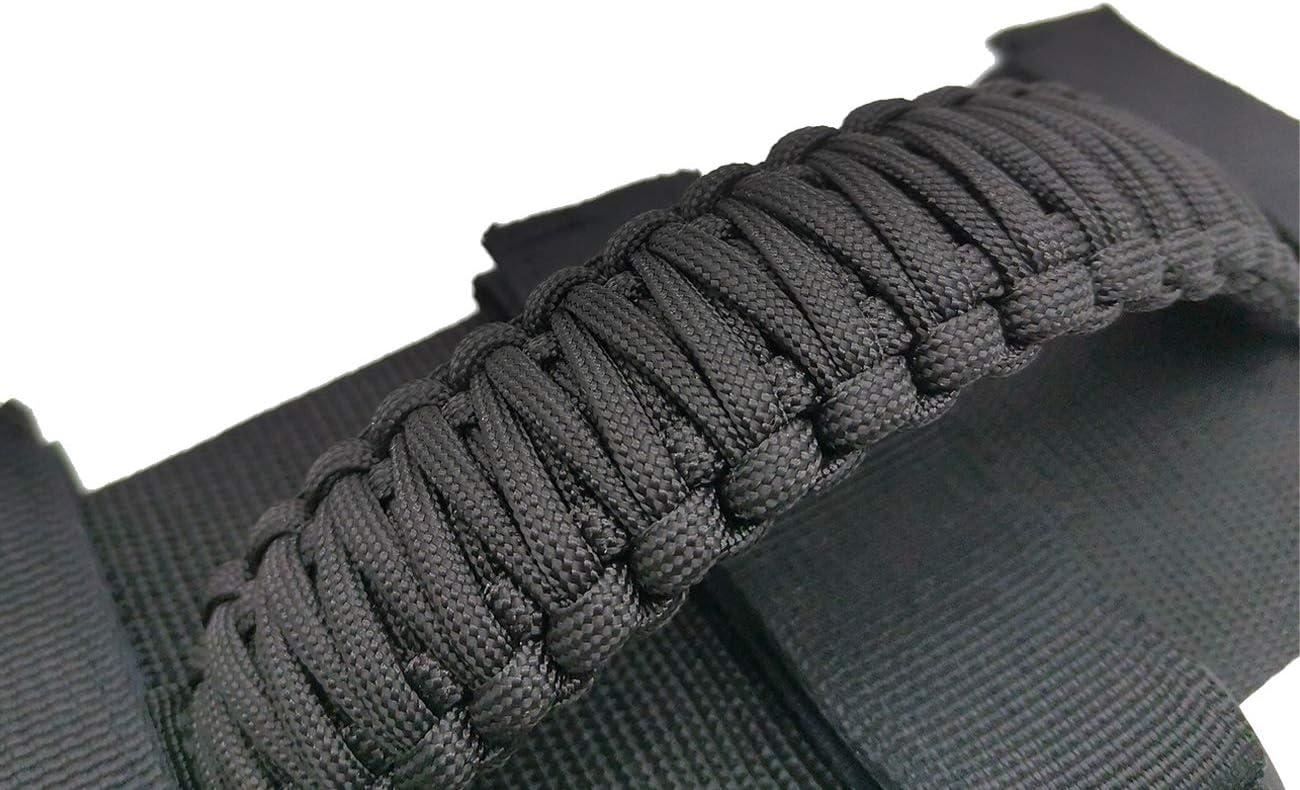 ROMASO 2Pcs Grab Handles for Jeep Wrangler Paracord Black//Blue