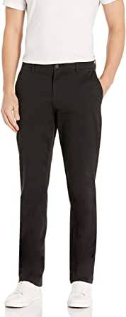 Goodthreads Hombre Pantalón chino elástico, cómodo, lavado y de ajuste recto