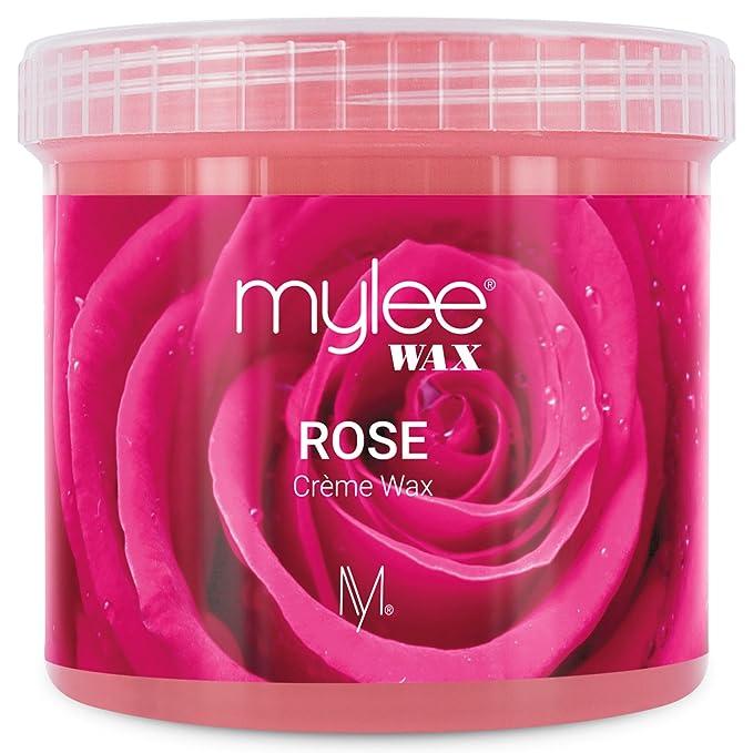 Mylee Cera De Rosa Suave en Crema para Pieles Sensibles 425g, Pote de Crema Depilatoria para Eliminar Vello, Ideal para Cuerpo, Se Puede Calentar en el ...