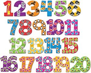 Learning Resources Number Puzzle Cards, Early Number Recognition, Toddler Puzzle, 20 Self-Correcting Puzzles, 40 Pieces, Ages 3+